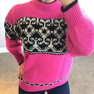Vintage Barbie Pink Oversized Chunky Knit Sweater